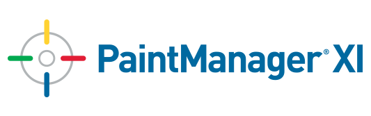 PaintManager® XI logo with four-color bullseye